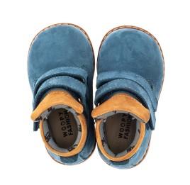 Детские демисезонные ботинки Woopy Orthopedic синие для мальчиков натуральный нубук размер 18-20 (4065) Фото 5