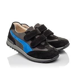 Детские кроссовки Woopy Orthopedic синие для мальчиков натуральный нубук размер 35-40 (4066) Фото 1