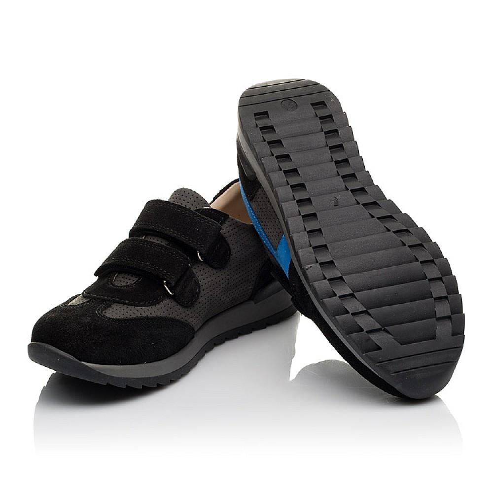 Детские кроссовки Woopy Orthopedic синие для мальчиков натуральный нубук размер 31-40 (4066) Фото 2