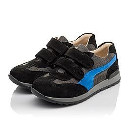 Детские кроссовки Woopy Orthopedic синие для мальчиков натуральный нубук размер 35-40 (4066) Фото 3