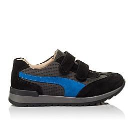 Детские кроссовки Woopy Orthopedic синие для мальчиков натуральный нубук размер 35-40 (4066) Фото 4