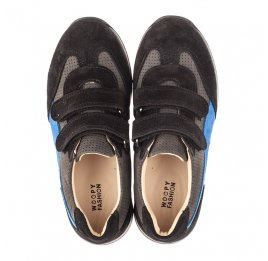 Детские кроссовки Woopy Orthopedic синие для мальчиков натуральный нубук размер 35-40 (4066) Фото 5