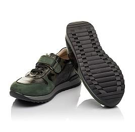 Детские кроссовки Woopy Orthopedic зеленые для мальчиков натуральная кожа размер 26-33 (4067) Фото 2