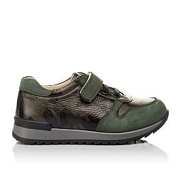 Детские кроссовки Woopy Orthopedic зеленые для мальчиков натуральная кожа размер 26-33 (4067) Фото 4