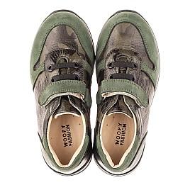 Детские кроссовки Woopy Orthopedic зеленые для мальчиков натуральная кожа размер 26-33 (4067) Фото 5