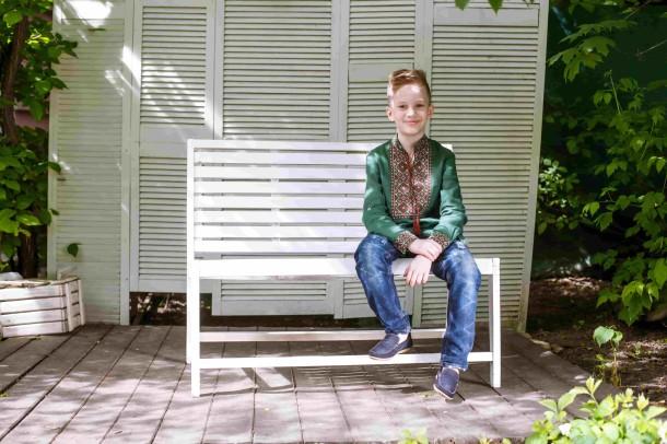 Мальчик обут в детские мокасины Woopy Orthopedic темно-синие (4073) Фото 1