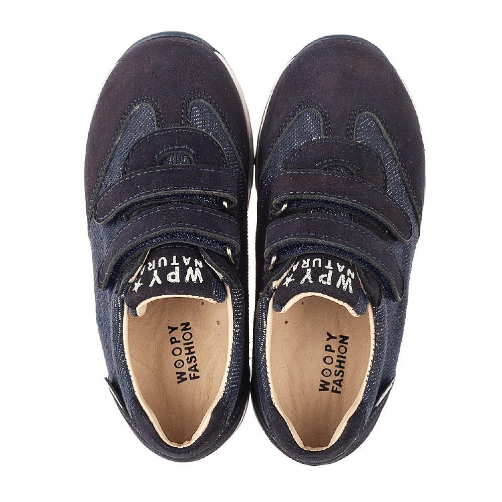 Детские кроссовки Woopy Orthopedic темно-синие для мальчиков натуральный нубук, деним размер 22-30 (4076) Фото 5