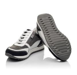 Детские кроссовки Woopy Orthopedic белые для мальчиков натуральная кожа, нубук и замша размер 21-33 (4078) Фото 2
