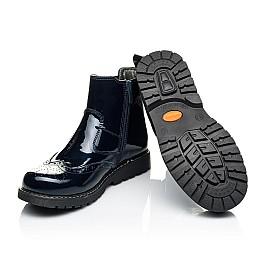 Детские демисезонные ботинки (внутри кожа) Woopy Orthopedic синие для девочек натуральная лаковая кожа размер 33-40 (4079) Фото 2
