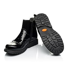 Детские демисезонные ботинки (внутри кожа) Woopy Orthopedic черные для девочек натуральная лаковая кожа размер 33-40 (4080) Фото 2