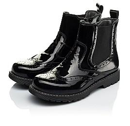 Детские демисезонные ботинки (внутри кожа) Woopy Orthopedic черные для девочек натуральная лаковая кожа размер 33-40 (4080) Фото 4