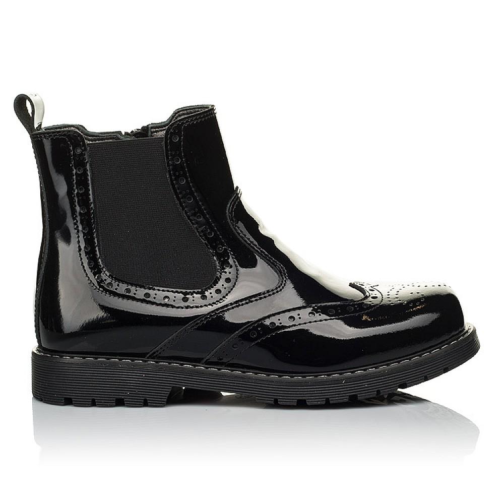 Детские демисезонные ботинки (внутри кожа) Woopy Orthopedic черные для девочек натуральная лаковая кожа размер 33-40 (4080) Фото 5