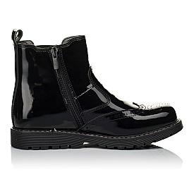 Детские демисезонные ботинки (внутри кожа) Woopy Orthopedic черные для девочек натуральная лаковая кожа размер 33-40 (4080) Фото 6