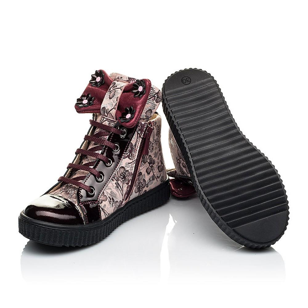 Детские демисезонные ботинки (внутри кожа) Woopy Orthopedic бордовые для девочек натуральная лаковая кожа и нубук размер 28-36 (4083) Фото 2