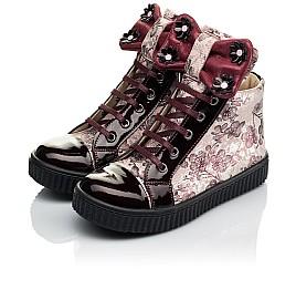 Детские демисезонные ботинки (внутри кожа) Woopy Orthopedic бордовые для девочек натуральная лаковая кожа и нубук размер 28-34 (4083) Фото 3