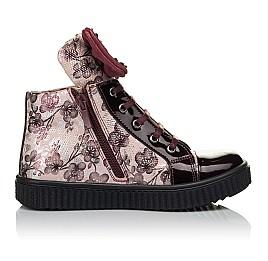 Детские демисезонные ботинки (внутри кожа) Woopy Orthopedic бордовые для девочек натуральная лаковая кожа и нубук размер 28-34 (4083) Фото 5