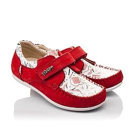 Детские мокасины Woopy Orthopedic красные для девочек натуральный нубук размер 23-30 (4084) Фото 1