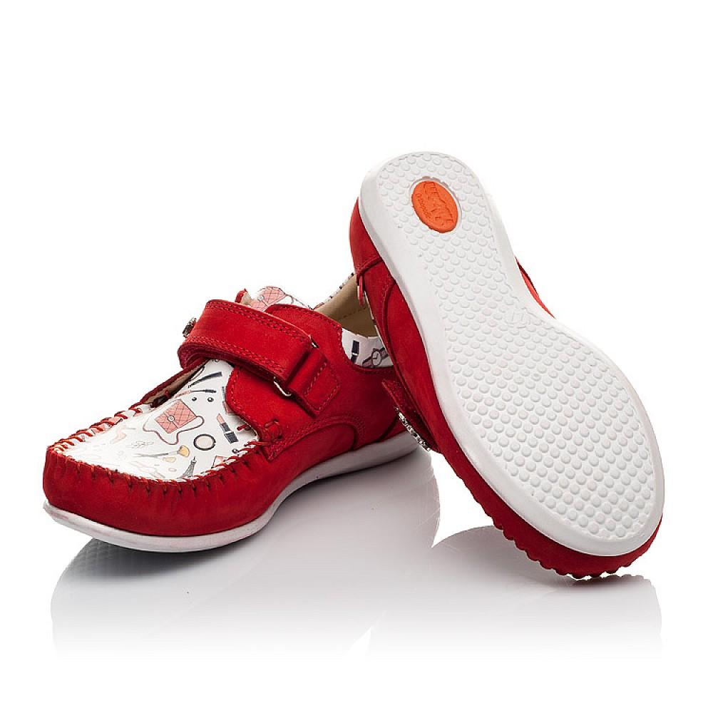 Детские мокасины Woopy Orthopedic красные для девочек натуральный нубук размер 23-30 (4084) Фото 2