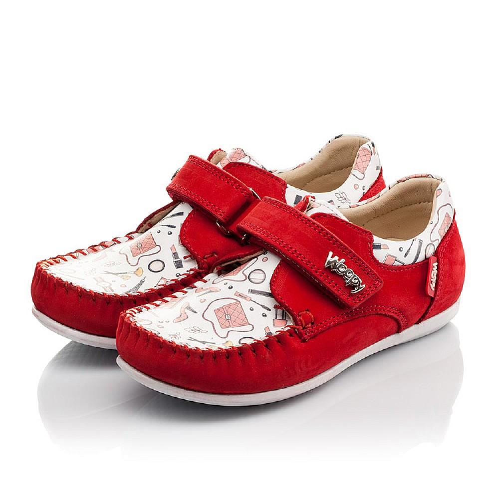 Детские мокасины Woopy Orthopedic красные для девочек натуральный нубук размер 23-30 (4084) Фото 3