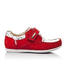 Детские мокасины Woopy Orthopedic красные для девочек натуральный нубук размер 23-30 (4084) Фото 4