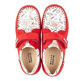 Детские мокасины Woopy Orthopedic красные для девочек натуральный нубук размер 23-30 (4084) Фото 5
