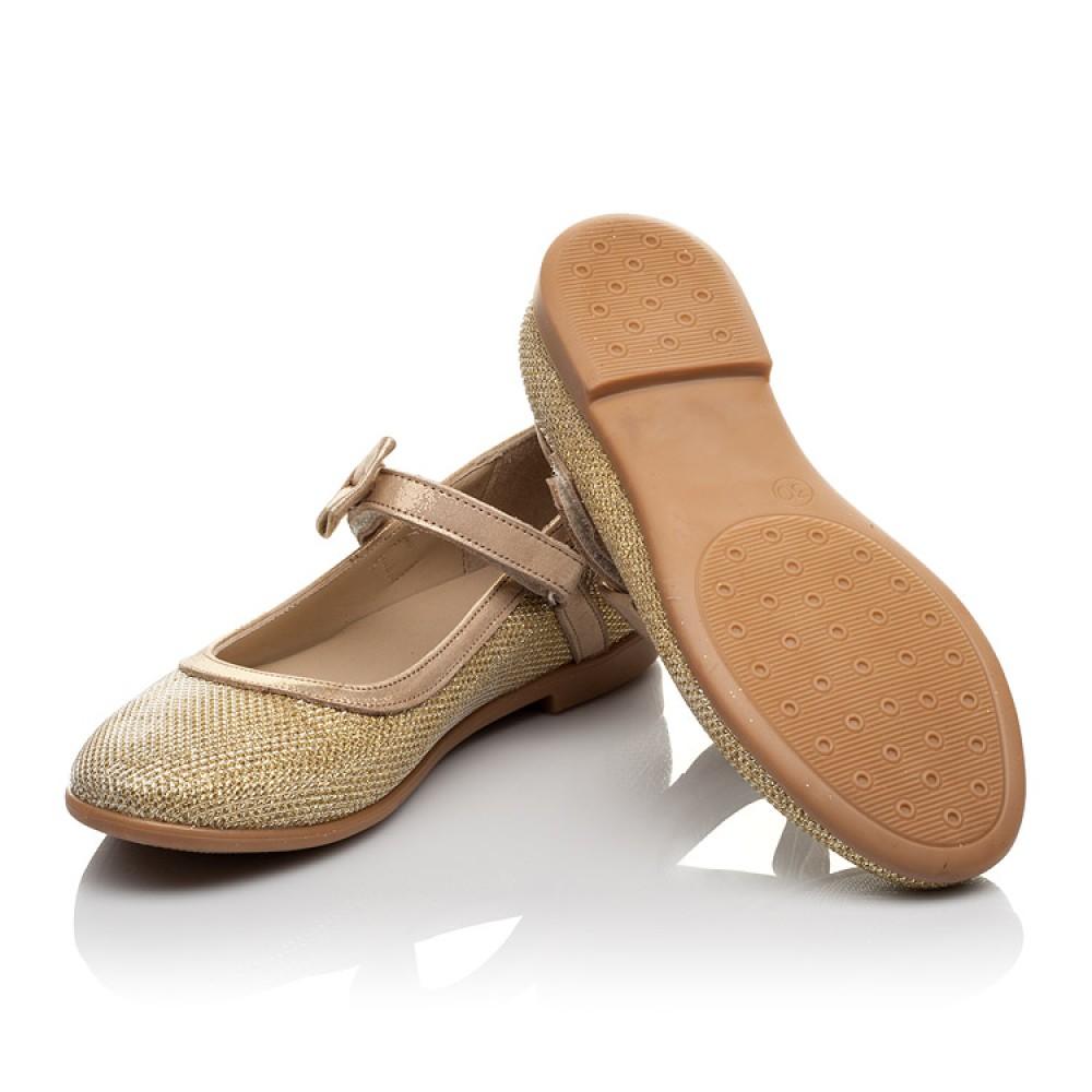 Детские туфлі Woopy Orthopedic золоті для девочек сучасний штучний матеріал размер 28-37 (4085) Фото 2