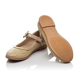 Детские туфли Woopy Orthopedic золотые для девочек современный искусственный материал размер 28-37 (4085) Фото 2
