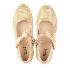 Детские туфли Woopy Orthopedic золотые для девочек современный искусственный материал размер 28-37 (4085) Фото 5