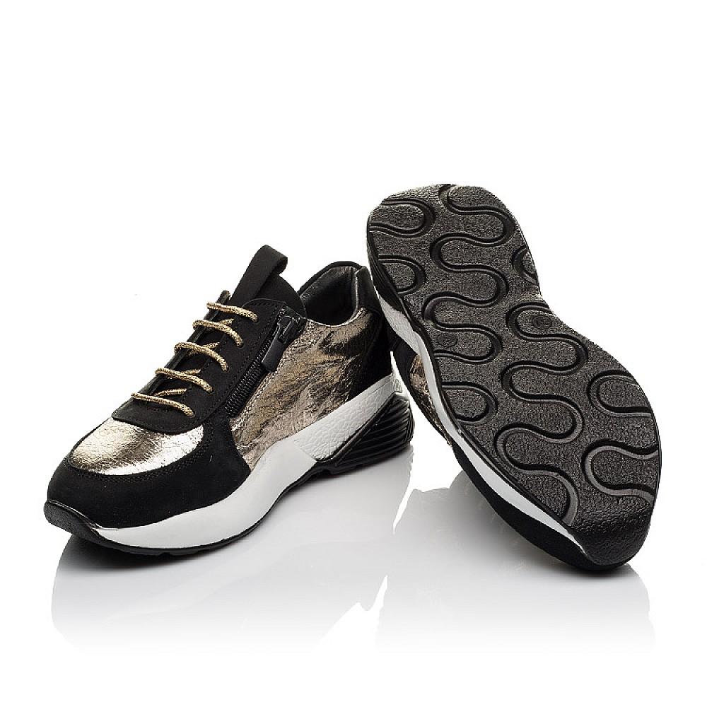 Детские кросівки Woopy Orthopedic чорні для девочек натуральний нубук размер 30-38 (4087) Фото 2
