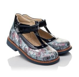 Детские туфли ортопедические Woopy Orthopedic синие для девочек натуральный нубук размер 19-33 (4088) Фото 1