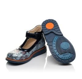 Детские туфли ортопедические Woopy Orthopedic синие для девочек натуральный нубук размер 19-33 (4088) Фото 2
