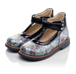 Детские туфли ортопедические Woopy Orthopedic синие для девочек натуральный нубук размер 19-33 (4088) Фото 3