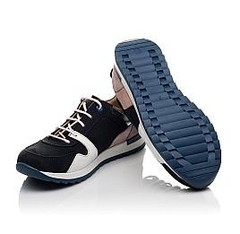 Детские кроссовки Woopy Orthopedic темно-синие для девочек натуральная кожа, нубук и замша размер 33-39 (4091) Фото 2