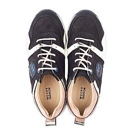 Детские кросівки Woopy Orthopedic темно-синие для девочек натуральная кожа, нубук и замша размер 33-39 (4091) Фото 3