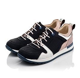 Детские кросівки Woopy Orthopedic темно-синие для девочек натуральная кожа, нубук и замша размер 33-39 (4091) Фото 4