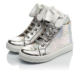Детские демисезонные ботинки (внутри кожа) Woopy Orthopedic серебряные для девочек натуральный нубук размер 28-36 (4092) Фото 3