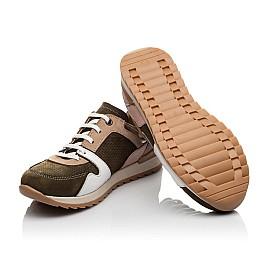 Детские кроссовки Woopy Orthopedic зеленые для девочек натуральная кожа, нубук и замша размер 33-39 (4093) Фото 2