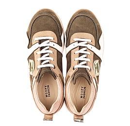 Детские кроссовки Woopy Orthopedic зеленые для девочек натуральная кожа, нубук и замша размер 33-39 (4093) Фото 3