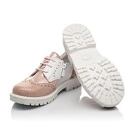 Детские туфли Woopy Orthopedic пудровые для девочек натуральная кожа и нубук размер 33-38 (4094) Фото 2