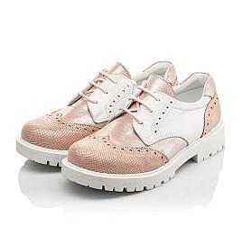 Детские туфли Woopy Orthopedic пудровые для девочек натуральная кожа и нубук размер 33-38 (4094) Фото 3