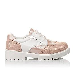 Детские туфли Woopy Orthopedic пудровые для девочек натуральная кожа и нубук размер 33-38 (4094) Фото 4
