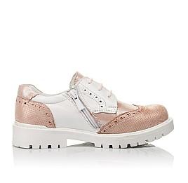 Детские туфли Woopy Orthopedic пудровые для девочек натуральная кожа и нубук размер 33-38 (4094) Фото 5