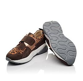 Детские кроссовки Woopy Orthopedic коричневые для девочек натуральный нубук размер 33-33 (4097) Фото 2
