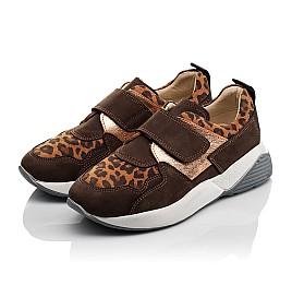 Детские кроссовки Woopy Orthopedic коричневые для девочек натуральный нубук размер 33-33 (4097) Фото 3