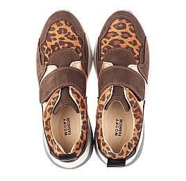 Детские кроссовки Woopy Orthopedic коричневые для девочек натуральный нубук размер 33-33 (4097) Фото 5