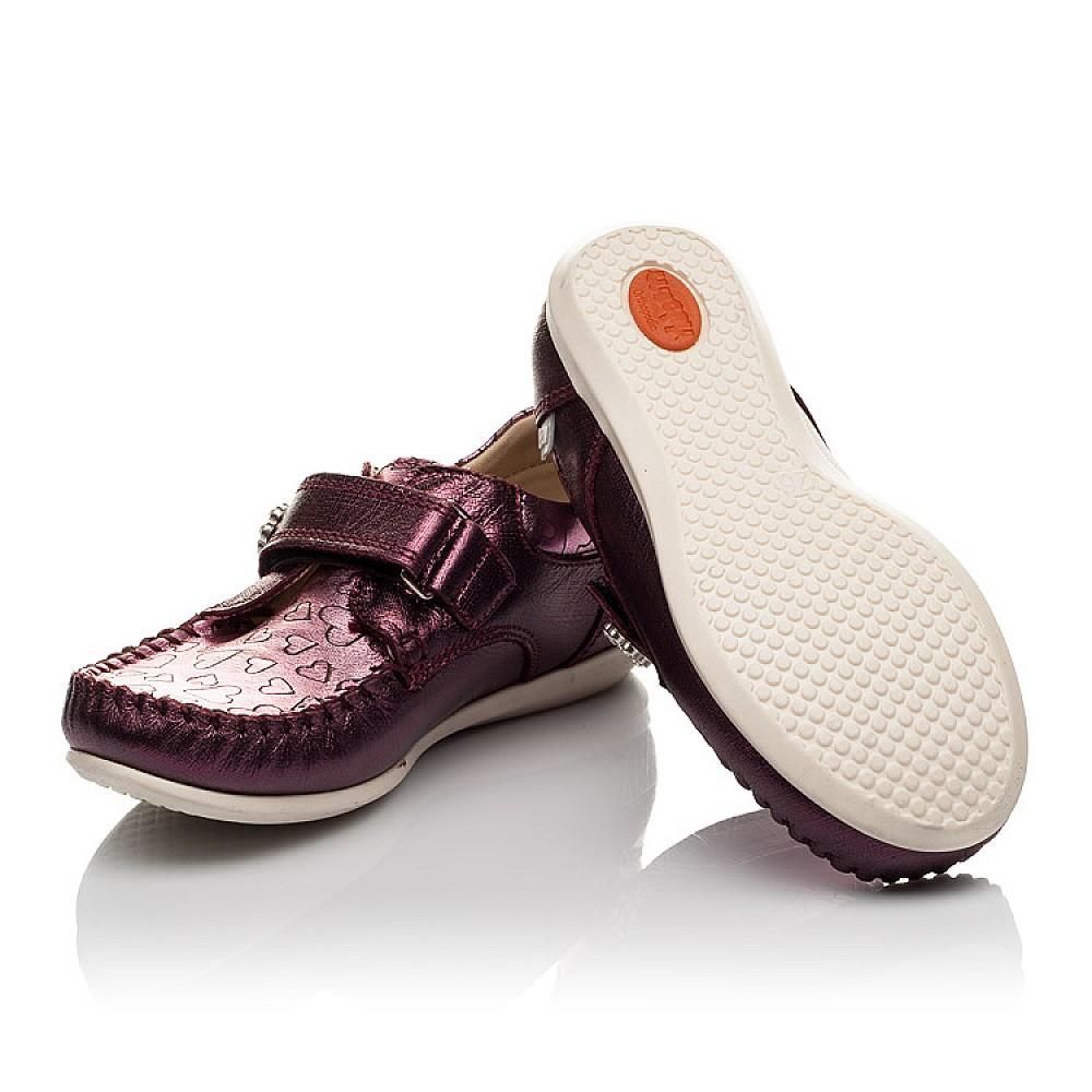 Детские мокасины Woopy Orthopedic фиолетовые для девочек натуральная кожа размер 23-30 (4098) Фото 2
