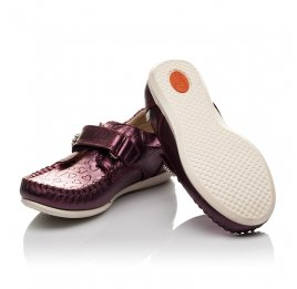 Детские мокасины Woopy Orthopedic фиолетовые для девочек натуральная кожа размер 25-26 (4098) Фото 2