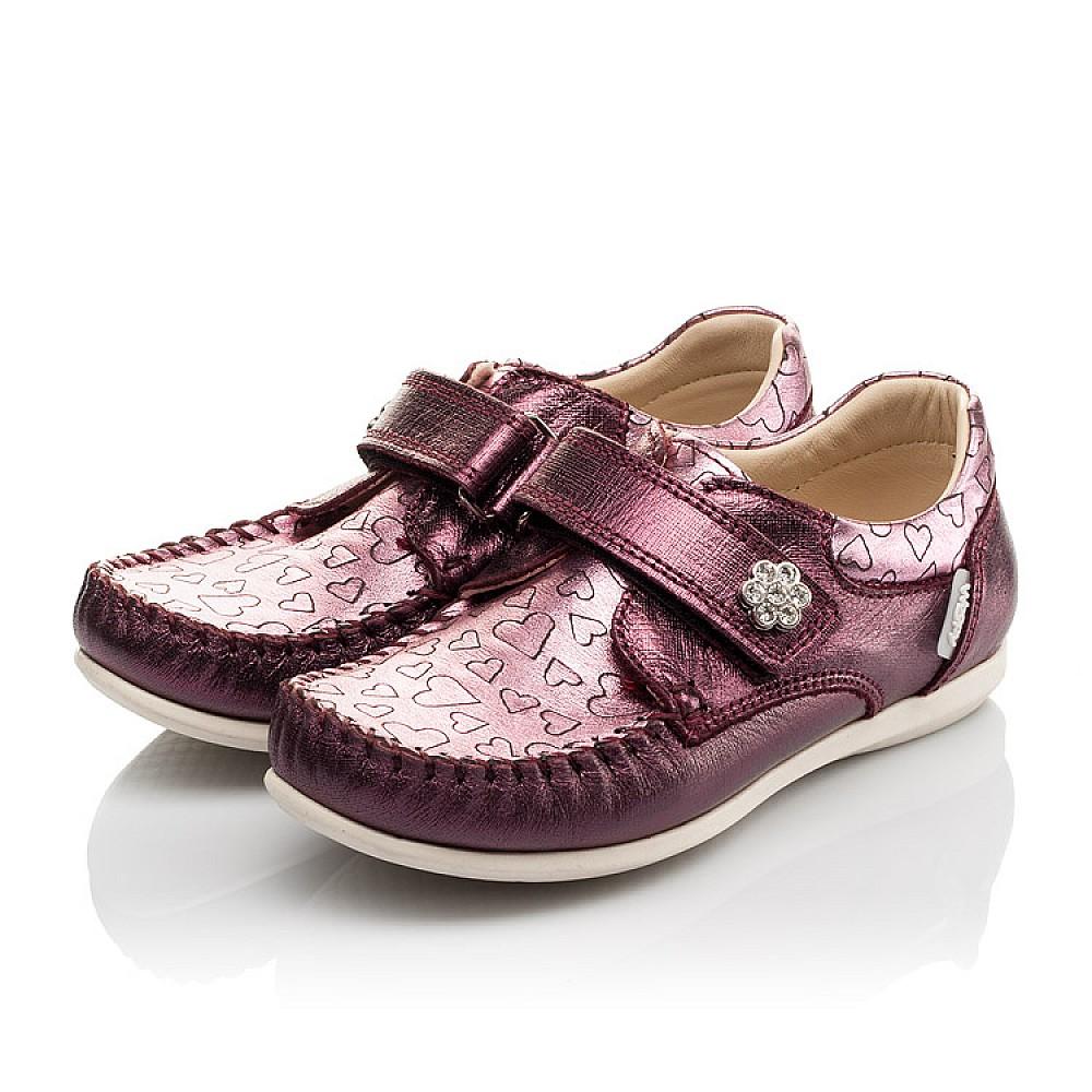 Детские мокасины Woopy Orthopedic фиолетовые для девочек натуральная кожа размер 23-30 (4098) Фото 3