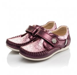 Детские мокасини Woopy Orthopedic фиолетовые для девочек натуральная кожа размер 25-26 (4098) Фото 3