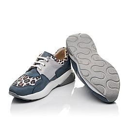 Детские кроссовки Woopy Orthopedic синие для девочек натуральный нубук размер 35-39 (4099) Фото 2